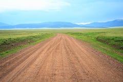 A estrada de terra Foto de Stock Royalty Free
