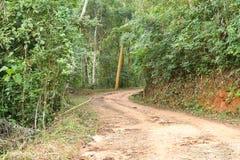 Estrada de terra do campo Foto de Stock Royalty Free