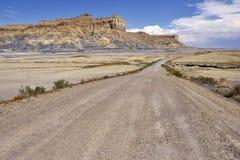 Estrada de terra do deserto Imagem de Stock