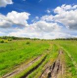 Estrada de terra no estepe Imagem de Stock