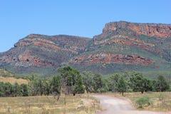 A estrada de terra no Flinders varia parque nacional, Sul da Austrália Fotos de Stock