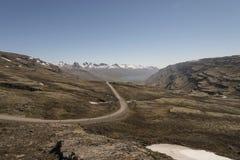 Estrada de terra - rota 939, região oriental, Islândia Imagem de Stock