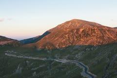 Estrada de Transalpina Fotografia de Stock Royalty Free