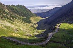 A estrada de Transfagarasan Foto de Stock
