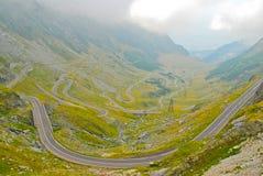 Estrada de Transfagarasan nos Carpathians Imagens de Stock Royalty Free