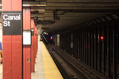 Estrada de trilho do metro Foto de Stock