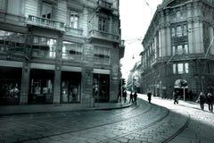 Estrada de trilho em Milão Imagens de Stock