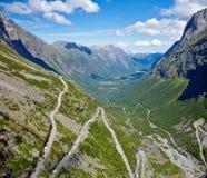 Estrada de Trollstigen Fotos de Stock Royalty Free