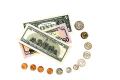 Estrada de um centavo a 100 dólares Imagem de Stock Royalty Free