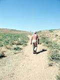 Estrada de Usbequistão Mayskiy no deserto 2007 Fotos de Stock