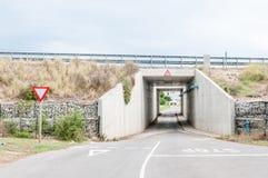 Estrada debaixo da estrada do N2 em Colchester Imagem de Stock