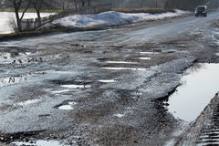 Estrada destruída Imagem de Stock Royalty Free