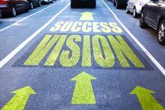 Estrada direta ao sucesso, começando com visão do negócio Fotografia de Stock Royalty Free