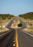 Estrada dividida Fotos de Stock Royalty Free