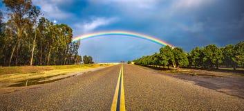 Estrada do arco-íris imagens de stock