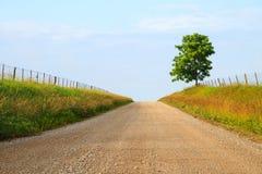 Estrada do cascalho de Midwest Fotos de Stock