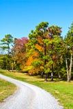 Estrada do cascalho do outono Foto de Stock Royalty Free