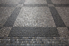 Estrada do Cobblestone Foto de Stock Royalty Free