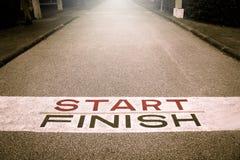 Estrada do começo de Victory Path, começo de Victory Line, Imagem de Stock Royalty Free