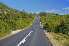 Estrada do croazia Fotos de Stock
