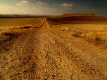 Estrada do deserto Fotografia de Stock