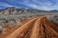 Estrada do deserto Imagens de Stock
