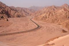 Estrada do deserto Fotografia de Stock Royalty Free