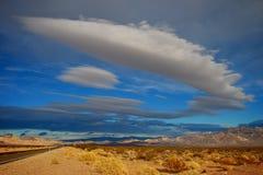 Estrada do deserto de Nevada Fotografia de Stock