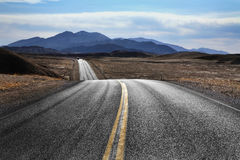Estrada do deserto, Death Valley fotos de stock royalty free