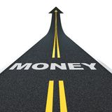 Estrada do dinheiro Fotos de Stock