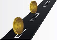 Estrada do dinheiro ilustração do vetor
