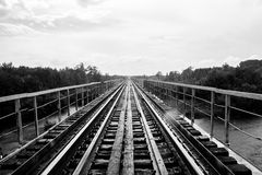 Estrada do ferro em Rússia Foto de Stock