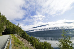 Estrada do Fjord fotos de stock royalty free