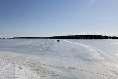 A estrada do gelo Foto de Stock