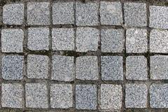 Estrada do granito masonry Textura de superfície imagens de stock