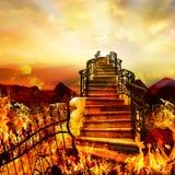 Estrada do inferno ao céu fotos de stock