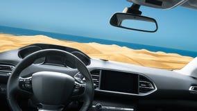Estrada do interior do carro Imagens de Stock Royalty Free