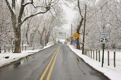 Estrada do inverno Fotografia de Stock Royalty Free