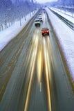 Estrada do inverno Imagem de Stock Royalty Free