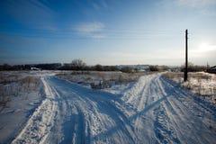 Estrada do inverno. fotos de stock royalty free