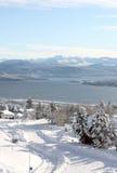 Estrada do inverno em Noruega Foto de Stock Royalty Free