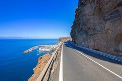Estrada do litoral na ilha de Gran Canaria Fotos de Stock
