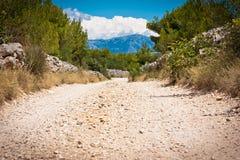 Estrada do macadame de Sutivan Imagem de Stock