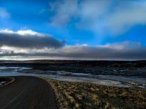 Estrada do montanhês de Islândia foto de stock