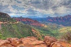 Estrada do monte de AZ-Sedona-Schnebly Imagens de Stock