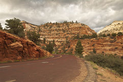 Estrada do nationalpark de Zion Fotografia de Stock Royalty Free