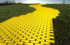 Estrada do ouro Fotografia de Stock
