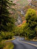 Estrada do outono Fotografia de Stock Royalty Free