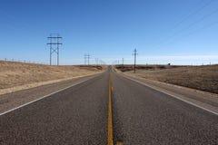 Estrada do país de Texas Imagens de Stock