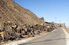 Estrada do poço da mineração Foto de Stock